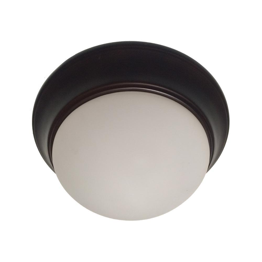 Bolton 1-Light Rubbed Oil Bronze CFL Flushmount