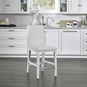 Pleasing Homestyles Linear White Kitchen Island And 2 Bar Stools 8000 Machost Co Dining Chair Design Ideas Machostcouk