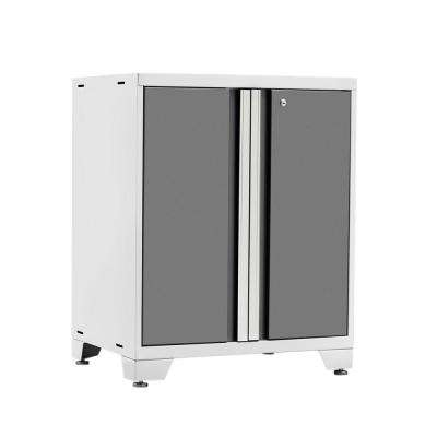 Pro 3 Series 37 in. H x 28 in. W x 22 in. D 18-Gauge Welded Steel 2-Door Base Cabinet in Platinum
