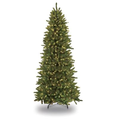 9 ft. Pre-Lit Incandescent Slim Fraser Fir Artificial Christmas Tree with 800 UL Clear Lights