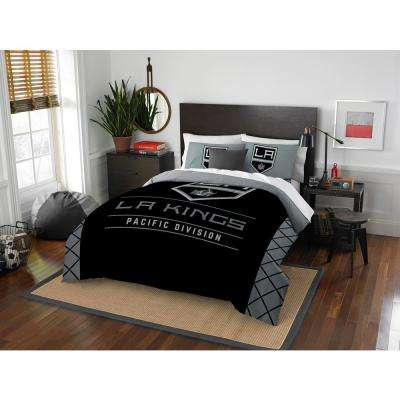 LA Kings Draft 3-Piece Multi-Color Polyester Full/Queen Comforter Set