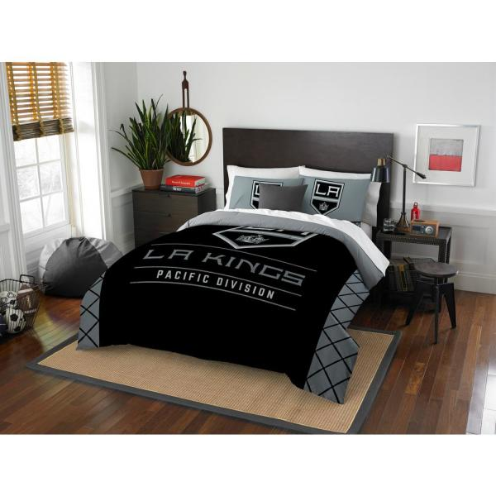 la kings draft 3-piece multi-color polyester full/queen comforter set