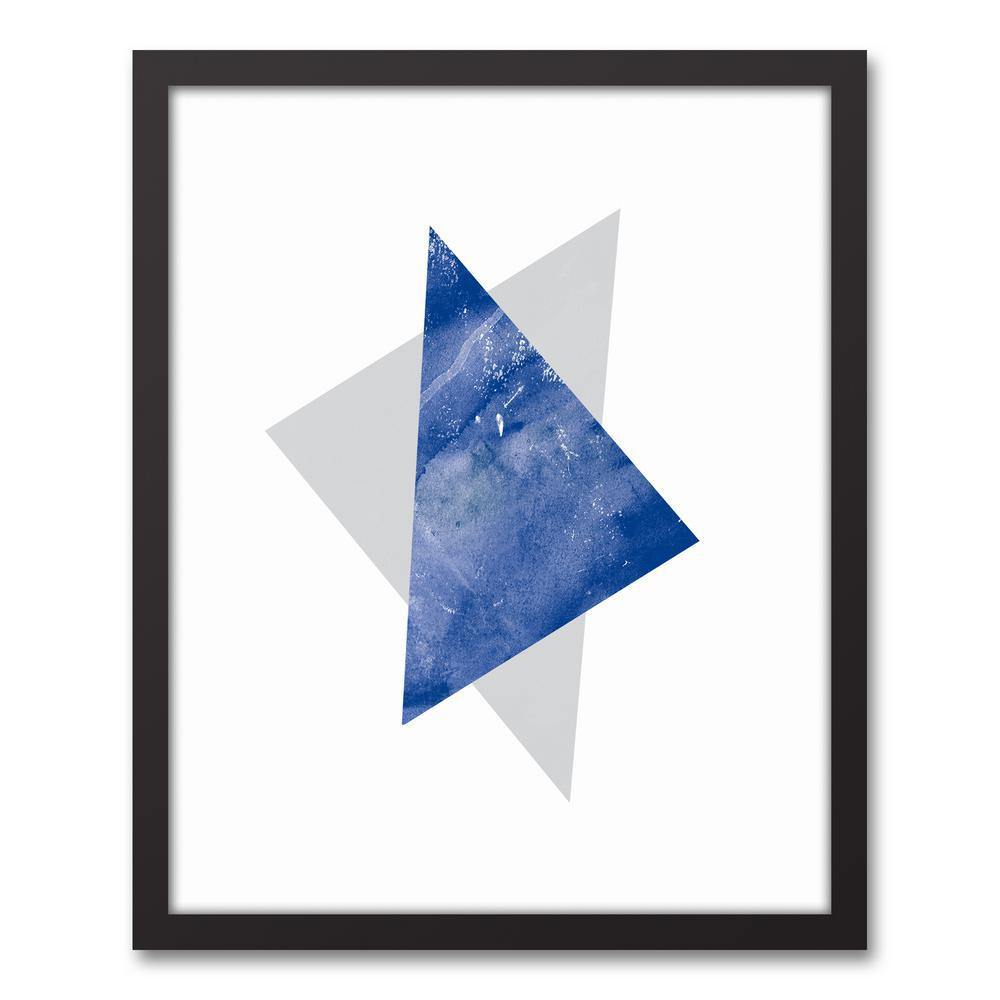 Designs direct 16 in x 20 in 39 39 blue and gray triangles for Direct from the designers