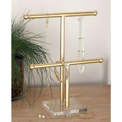 10 in. x 14 in. Gold Metal and Acrylic Jewelry Holder