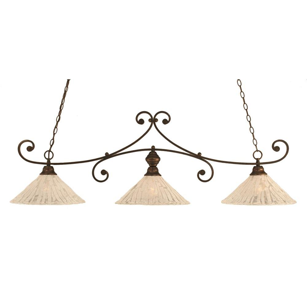 Filament Design Concord 3-Light Bronze Island Pendant