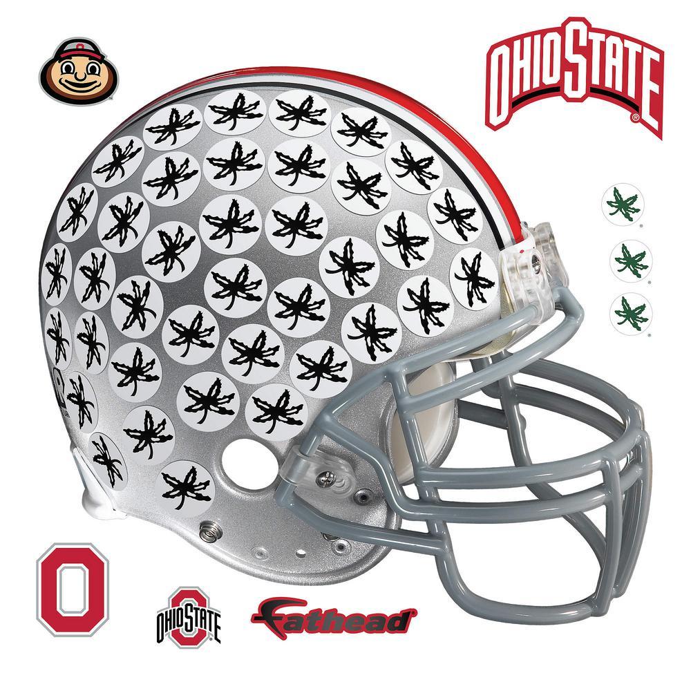 W Ohio State Buckeyes Buckeye Leaf Helmet Part 95