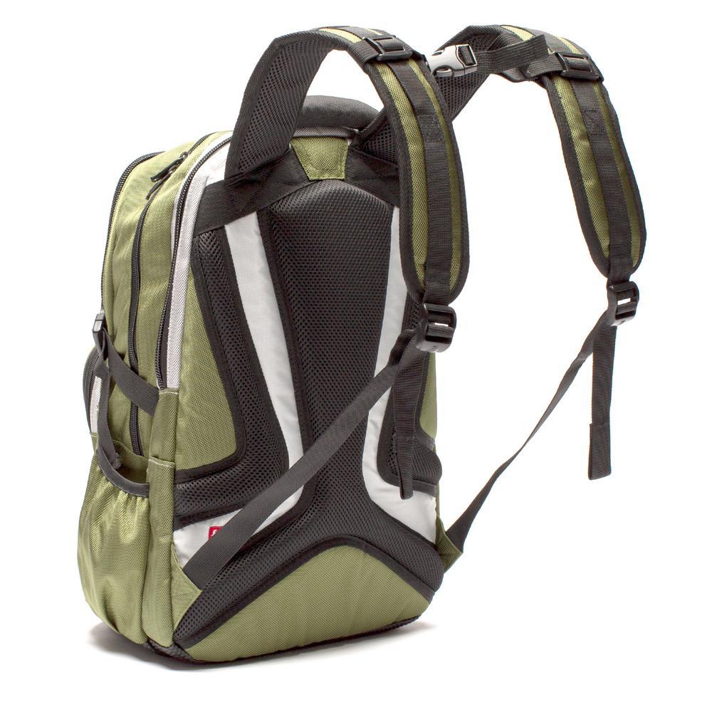 Deals on TMan 17 in. Olive Pocket Laptop Backpack