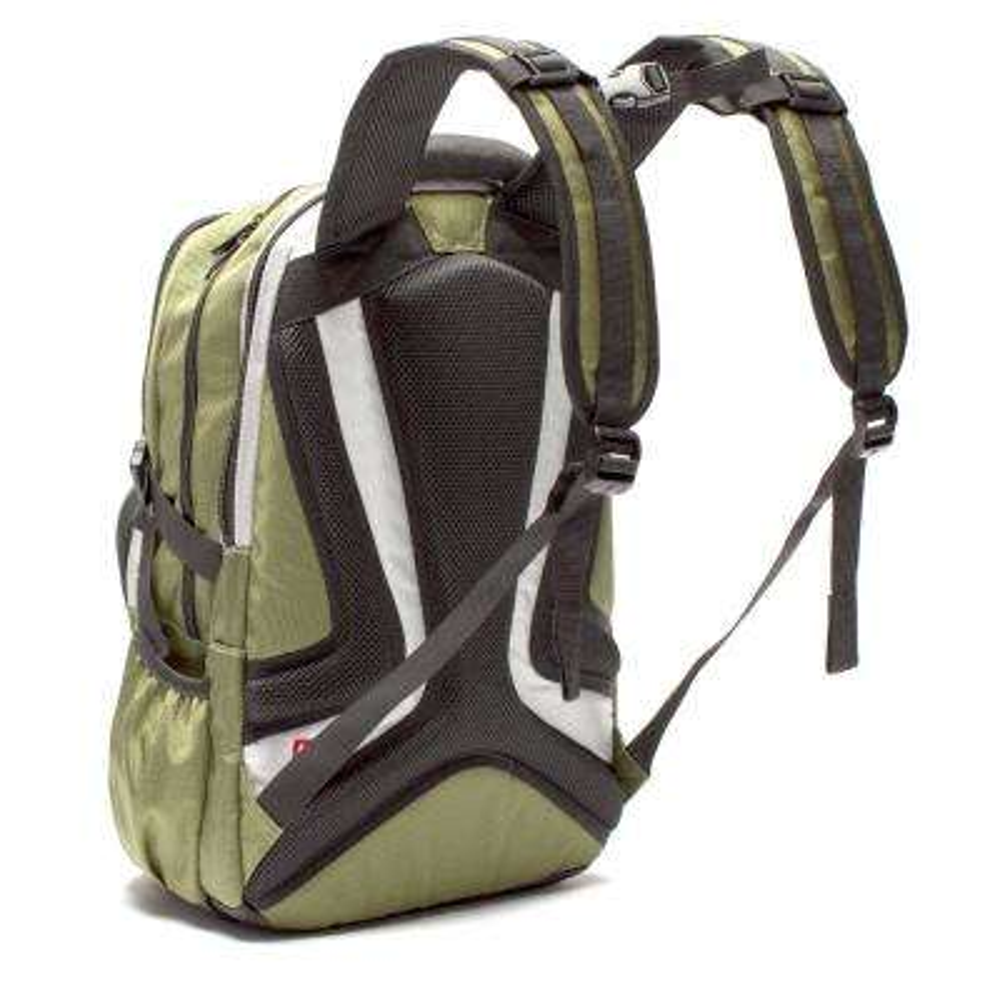 TMan 17 in. Olive Pocket Laptop Backpack