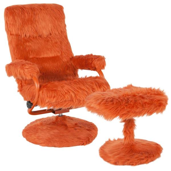 Flash Furniture Orange Fur Recliner CGA-BT-239405-OR-HD