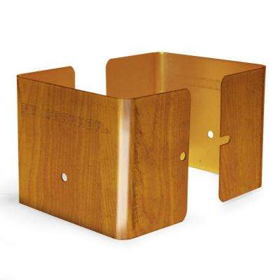 Redwood Fence Post Guard 3.5 in. L x 3.5 in. W x 3 in. H for Wood
