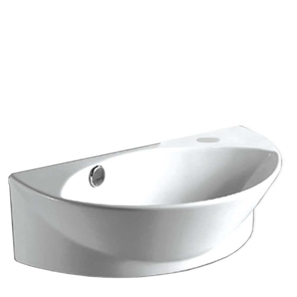 Whitehaus Collection Isabella Wall Mounted Bathroom Sink In  White WHKN1131 WH   The Home Depot