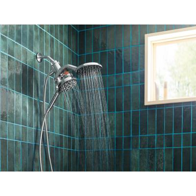 Aromatherapy 6-Spray Patterns 6.5 in. Wall Mount Dual Shower Heads with INLY Shower Capsules and Magnetix in Chrome