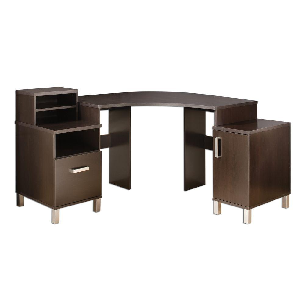 South Shore South Shore U at Work Chocolate Corner Desk-DISCONTINUED, Brown
