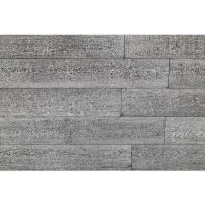 3D Barn Wood 1/4 in. x 5 in. x 24 in. Reclaimed Wood Decorative Wall Planks in Gray Color (10 sq. ft. / Case)