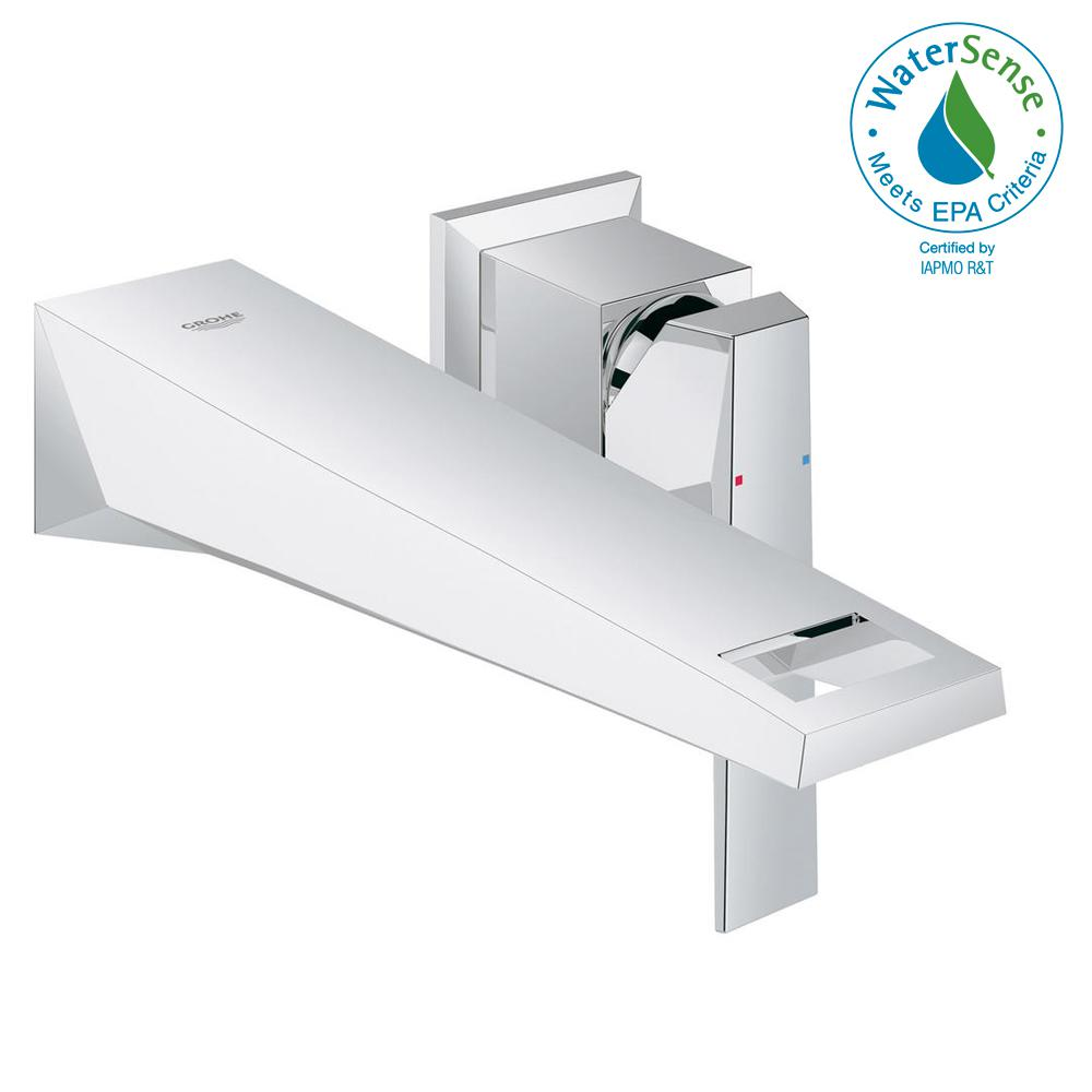 GROHE Allure Brilliant 1.2 GPM Single-Handle Wall Mount Bathroom ...