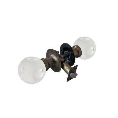 Abc Frosted Crystal Antique Brass Passive Door Knob with LED Mixing Lighting Touch Activated