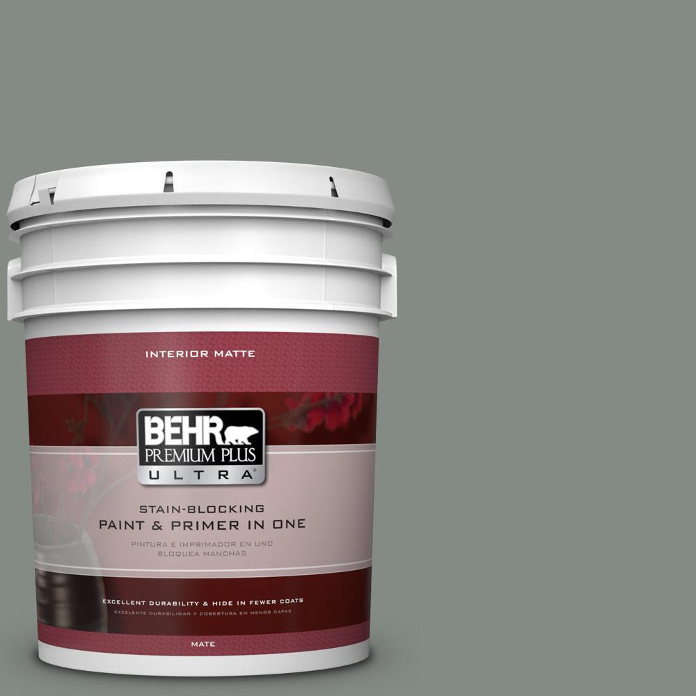 BEHR Premium Plus Ultra 5 gal. #710F-5 Valley Hills Flat/Matte Interior Paint