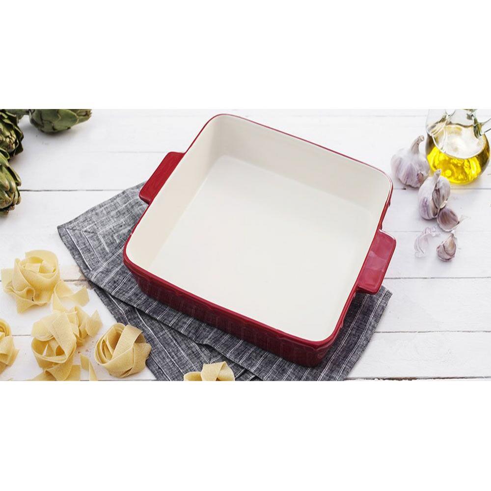 Ceramic Square Roasting Dish with Handles