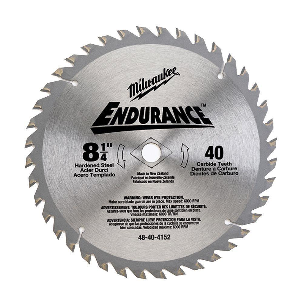 8-1/4 in. x 40 Carbide Tooth Circular Saw Blade