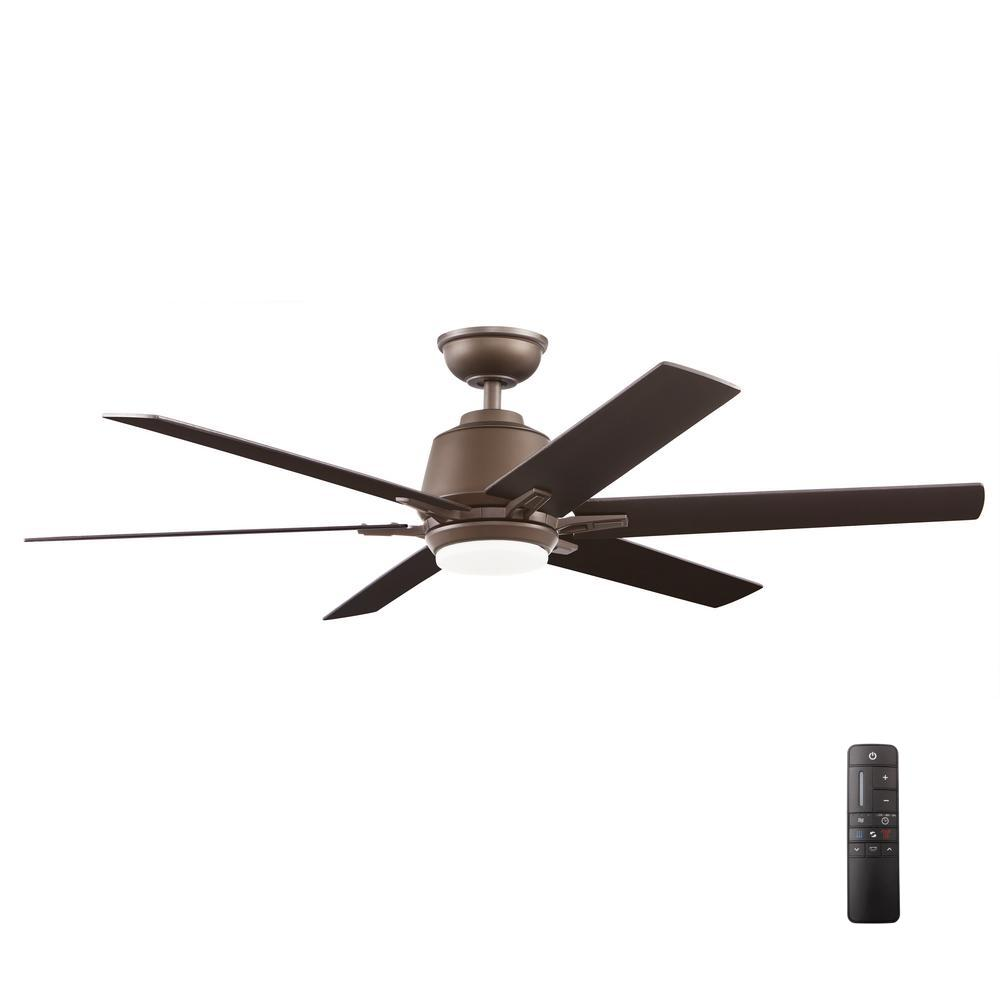 home decorators collection kensgrove 54 in integrated led indoor espresso bronze ceiling fan. Black Bedroom Furniture Sets. Home Design Ideas