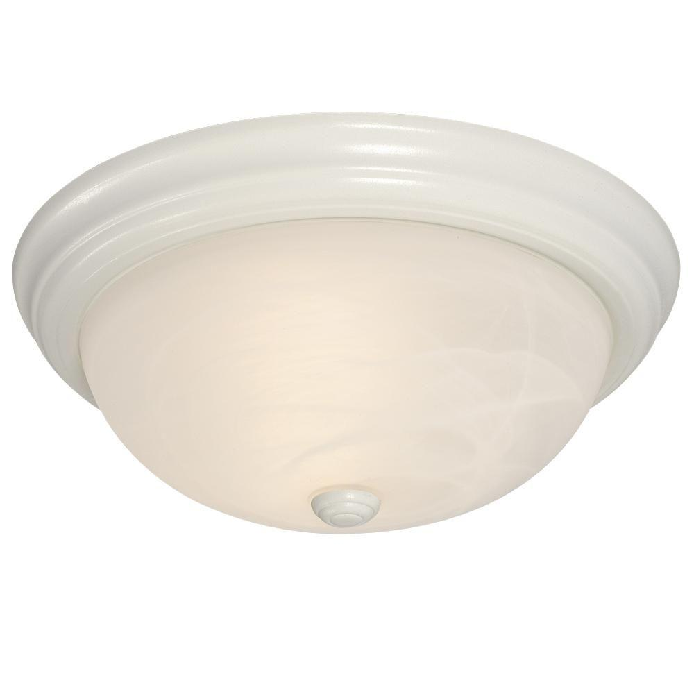 Filament Design Negron 3-Light White Incandescent Flushmount