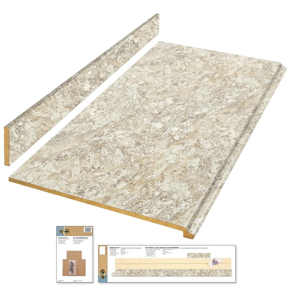 Hampton Bay 8 Ft Laminate Countertop Kit In Spring Carnival With Premium Quarry Finish And