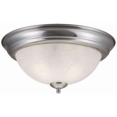 Millbridge 2-Light Satin Nickel Ceiling Light