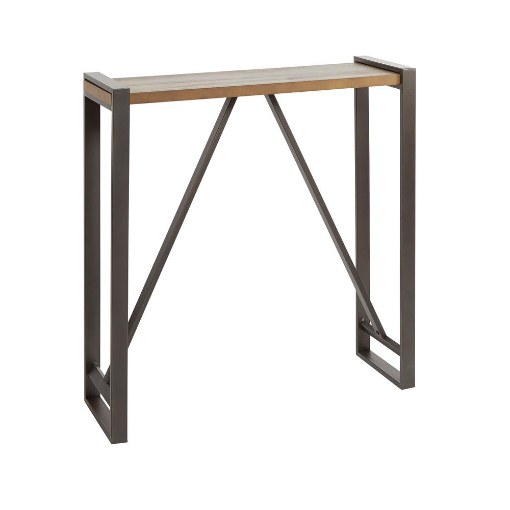 Silverwood Furniture Reimagined Boston 30 In Gray Brown Standard Rectangle Wood Console Table Cpft1431a The Home Depot