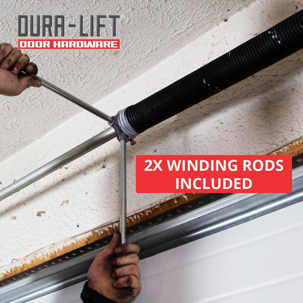 Left Wound 1.75 Inside Diameter 25.5 Length GDN Garage Door Torsion Spring 0.207 Wire Size