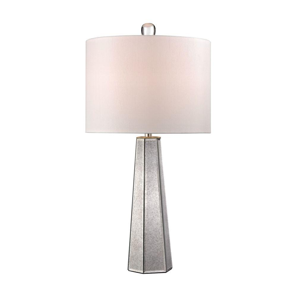 Beautiful Hexagonal Mercury Glass Lamp