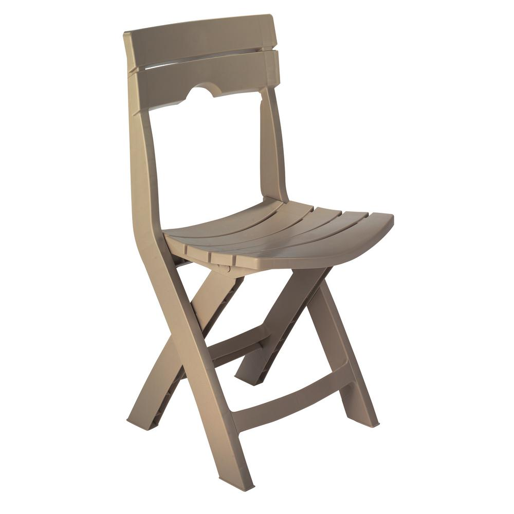 Adams Manufacturing Quik-Fold Portobello Resin Plastic Outdoor Lawn Chair  sc 1 st  The Home Depot & Adams Manufacturing Quik-Fold Portobello Resin Plastic Outdoor Lawn ...