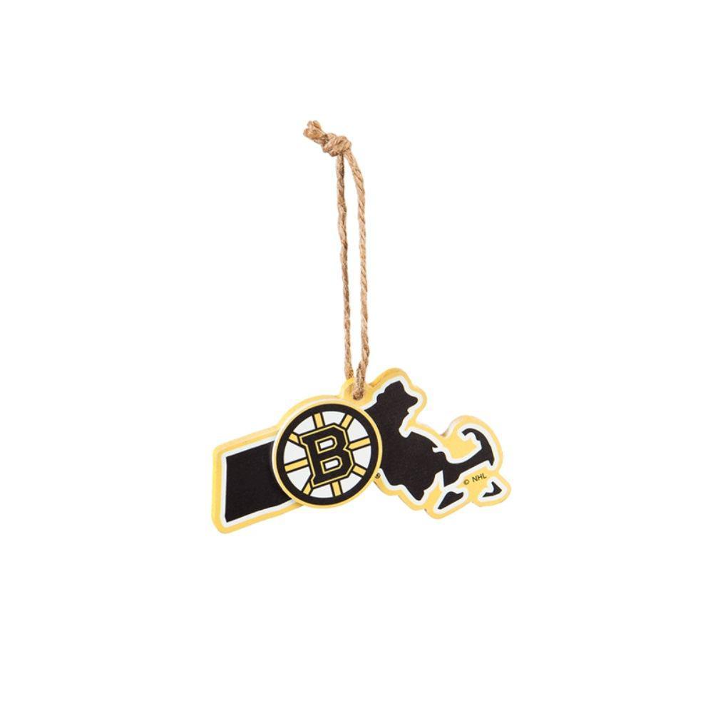 Team Sports America Boston Bruins 5 in. NHL Team State Christmas Ornament