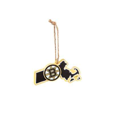 Boston Bruins 5 in. NHL Team State Christmas Ornament