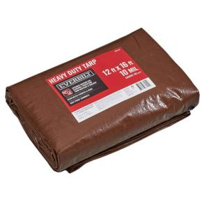 12 ft. x 16 ft. Brown/Silver Heavy Duty Tarp