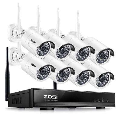 8-Channel 1080p NVR Security Camera System with 8-Wireless Bullet Cameras
