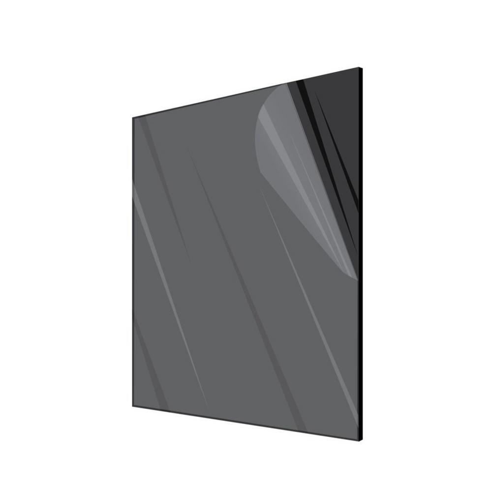 Adiroffice 24 In X 36 In X 0 125 In Plexiglass Black Acrylic Sheet 2436 1 B The Home Depot