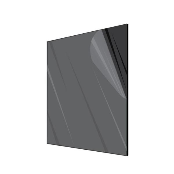 24 in. x 48 in. x 0.125 in. Plexiglass Black Acrylic Sheet