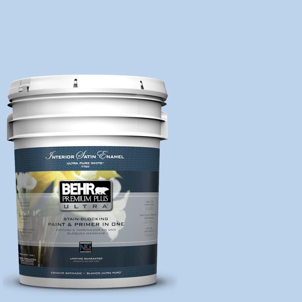 BEHR Premium Plus Ultra 5-gal. #570A-3 Pacific Panorama Satin Enamel Interior Paint