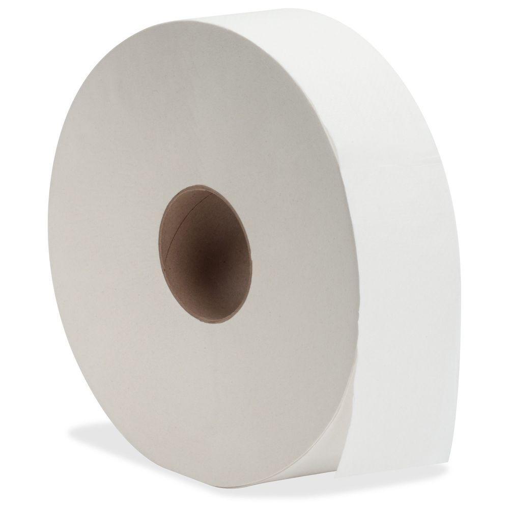 White Fiber Jumbo Roll Bath Tissue 2-Ply for Bathroom (6 per Carton)