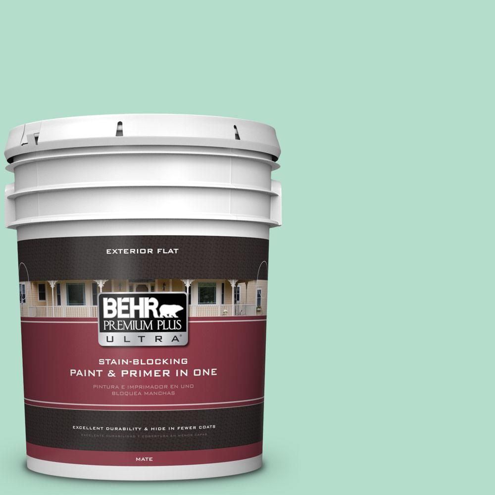 5 gal. #MQ4-18 Free Spirit Flat Exterior Paint and Primer in