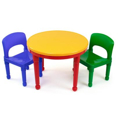 Tremendous Primary 2 In 1 Plastic Lego Compatible Kids Activity Table And 2 Chairs Set Machost Co Dining Chair Design Ideas Machostcouk