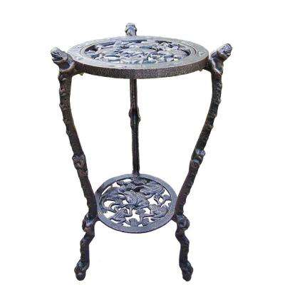 27-1/2 in. Metal Frog Table Plant Stand