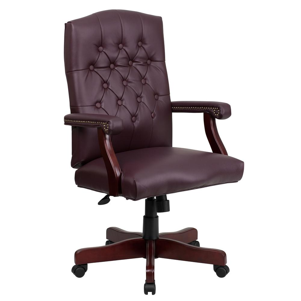 burgundy leather office chair executive office chairs compare