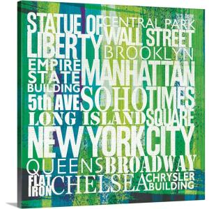 """New York City Life Patterns I"" by  Michael Mullan Canvas Wall Art"