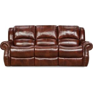 Awe Inspiring Oxblood Telluride Leather Double Reclining Sofa Beutiful Home Inspiration Cosmmahrainfo