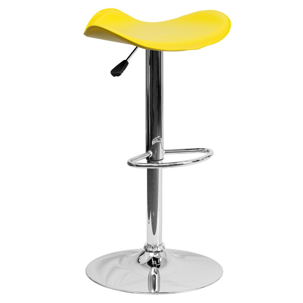 Adjustable Height Yellow Bar Stool