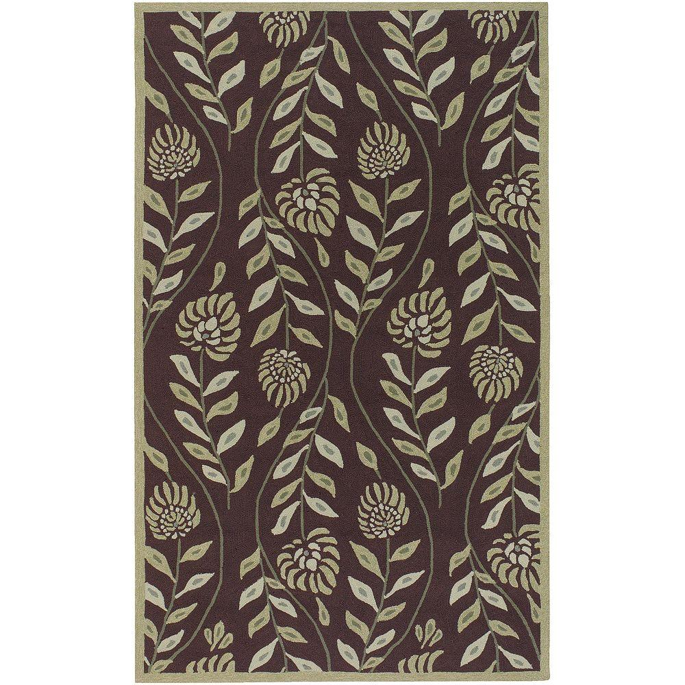 Artistic Weavers Nerine Dark Brown 5 ft. x 8 ft. Area Rug-DISCONTINUED
