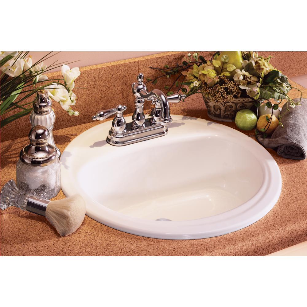 Bootz Industries Laurel Round Drop In Bathroom Sink In White 021 2435 00 The Home Depot
