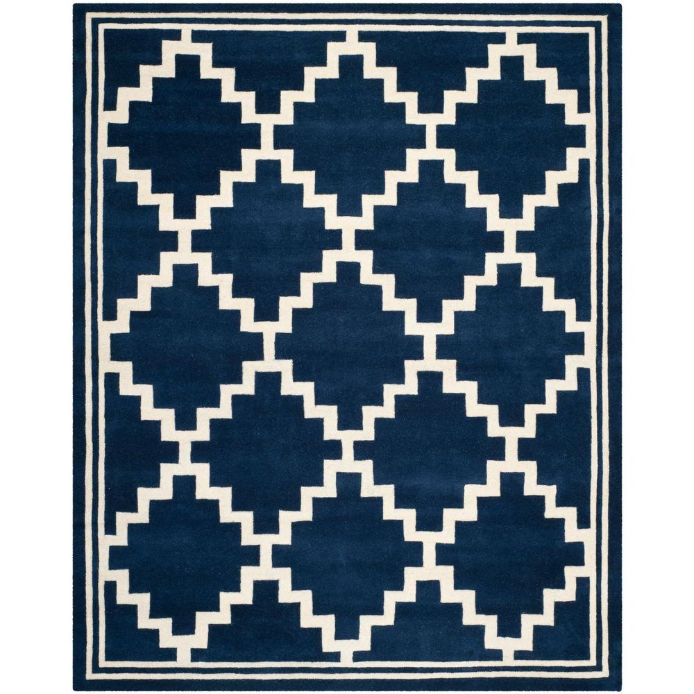 Safavieh Chatham Navy/Ivory 8 ft. x 10 ft. Area Rug
