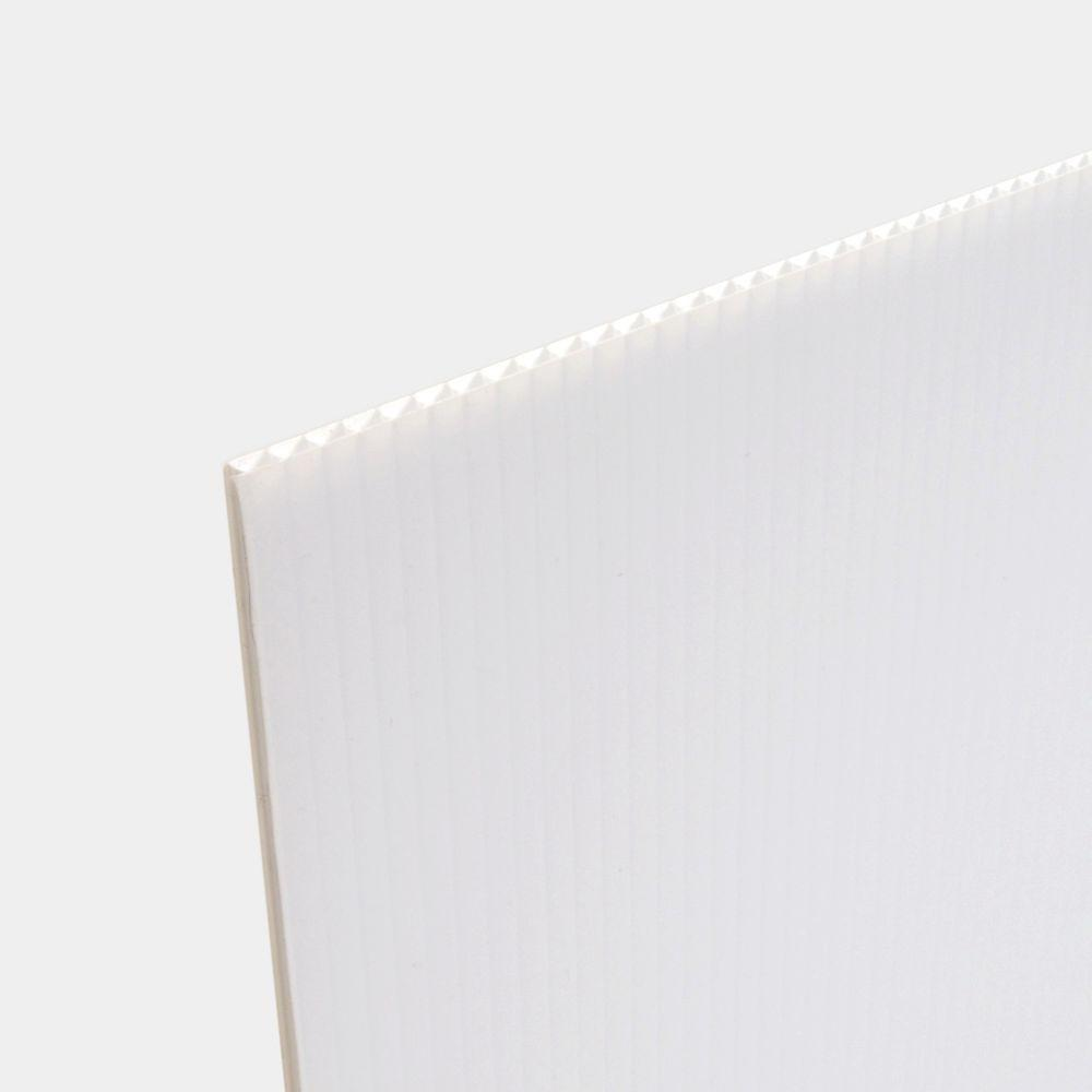 18 in. x 24 in. x .157 in. White Corrugated Twinwall Thick Plastic Sheets (15-Pack)